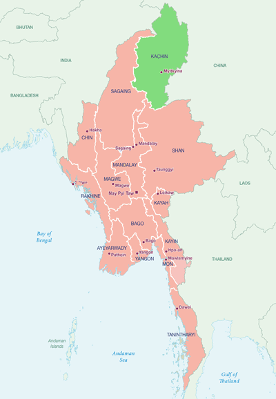 Map of jade mining location in myanmar