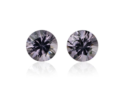 1.32ctw Sri Lankan Grey Round Spinel Pair