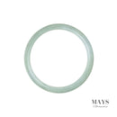 60mm Green Burmese Jadeite Jade Bangle Bracelet - MAYS