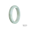 54mm Green Burmese Jadeite Jade Bangle Bracelet