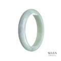 60mm Green, Lavender Burmese Jadeite Jade Bangle Bracelet - MAYS
