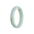 59mm Green, Lavender Burmese Jadeite Jade Bangle Bracelet - MAYS
