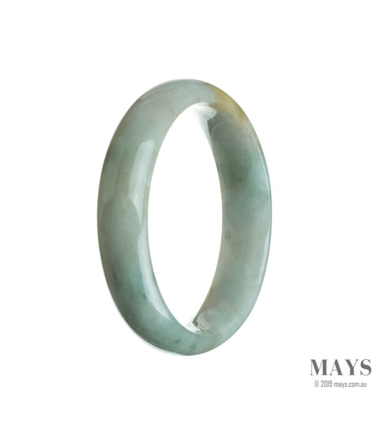 56mm Green Burmese Jadeite Jade Bangle Bracelet