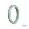 57mm Green Burmese Jadeite Jade Bangle Bracelet - MAYS