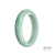 58mm Green, White Burmese Jadeite Jade Bangle Bracelet - MAYS