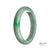 64mm Green, White Burmese Jadeite Jade Bangle Bracelet