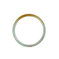 58mm Yellow Burmese Jadeite Jade Bangle Bracelet - MAYS