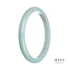 72mm Green, Lavender Burmese Jadeite Jade Bangle Bracelet