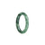 37mm Green Burmese Jadeite Jade Bangle Bracelet