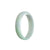 52mm White, Green, Lavender Burmese Jadeite Jade Bangle Bracelet