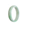 52mm Green. White Burmese Jadeite Jade Bangle Bracelet - MAYS