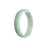 52mm Green. White Burmese Jadeite Jade Bangle Bracelet