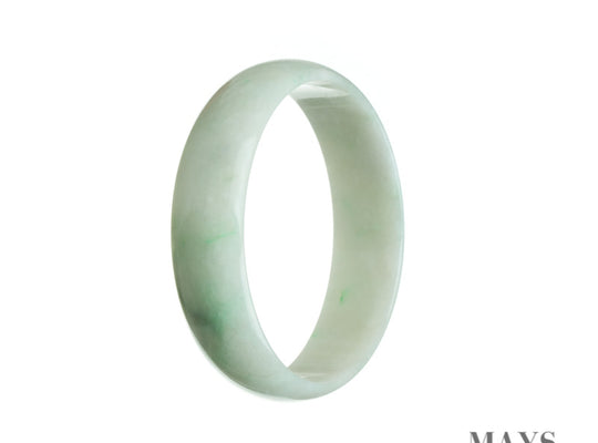 52mm White Burmese Jadeite Jade Bangle Bracelet