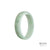 52mm Green, White Burmese Jadeite Jade Bangle Bracelet