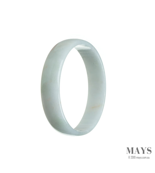53mm White Burmese Jadeite Jade Bangle Bracelet