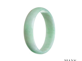 52mm Green Burmese Jadeite Jade Bangle Bracelet