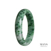 63mm Grade A Jadeite Jade Bangle - MAYS