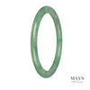 63mm Grade A Jadeite Jade Bangle