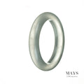 59mm Natural Icy Jade-like Translucent Bangle Bracelet (Not Jadeite)
