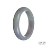57mm Natural Grade A Jade Bangle Bracelet