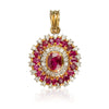 1.20ct Unheated Burmese Ruby Pendant with Diamonds - MAYS