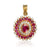 1.20ct Unheated Burmese Ruby Pendant with Diamonds - maysgems