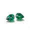 3.58ct Brazilian Emerald Pear Shape Pair - MAYS