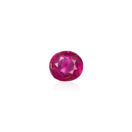 0.70ct Intense Red Unheated Burmese Ruby - maysgems