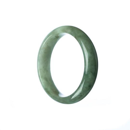 47mm Natural Burmese Jade Bangle - maysgems