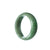 41mm Natural Burmese Jade Bangle - maysgems