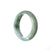 46mm Natural Burmese Jade Bangle - maysgems
