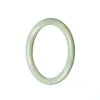 53mm Natural Burmese Jade Bangle - MAYS