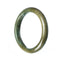 59mm Natural Burmese Jade Bangle - MAYS