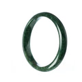 60mm Natural Burmese Jade Bangle - MAYS