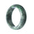 62mm Natural Burmese Jade Bangle - maysgems