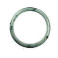 64mm Natural Burmese Jade Bangle - MAYS