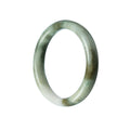 56mm Natural Burmese Jade Bangle - MAYS