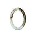 50mm Natural Burmese Jade Bangle - MAYS