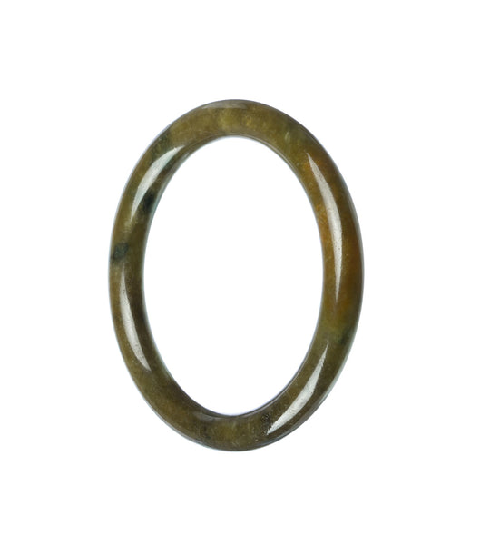 54mm Natural Burmese Jade Bangle - maysgems