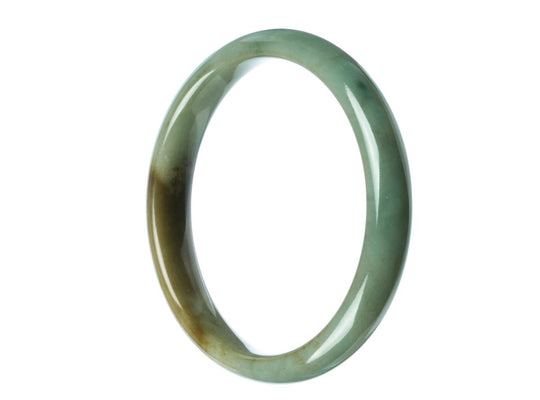 58mm Natural Burmese Jade Bangle - maysgems