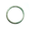 57mm Natural Burmese Jade Bangle
