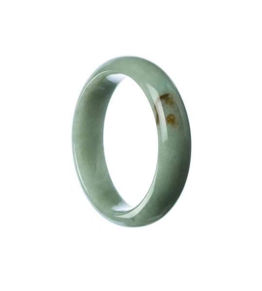 43mm Natural Burmese Jade Bangle - maysgems