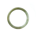 55mm Natural Burmese Jade Bangle - MAYS