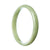 73mm Natural Burmese Jade Bangle