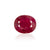 5.11ct Deep Red Africa Ruby - maysgems