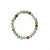 Three Colour Jade Bead Bracelet - maysgems