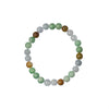 Three Colour Jade Bead Bracelet