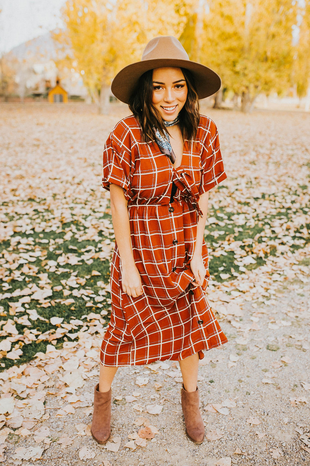 Gerri Grid Dress