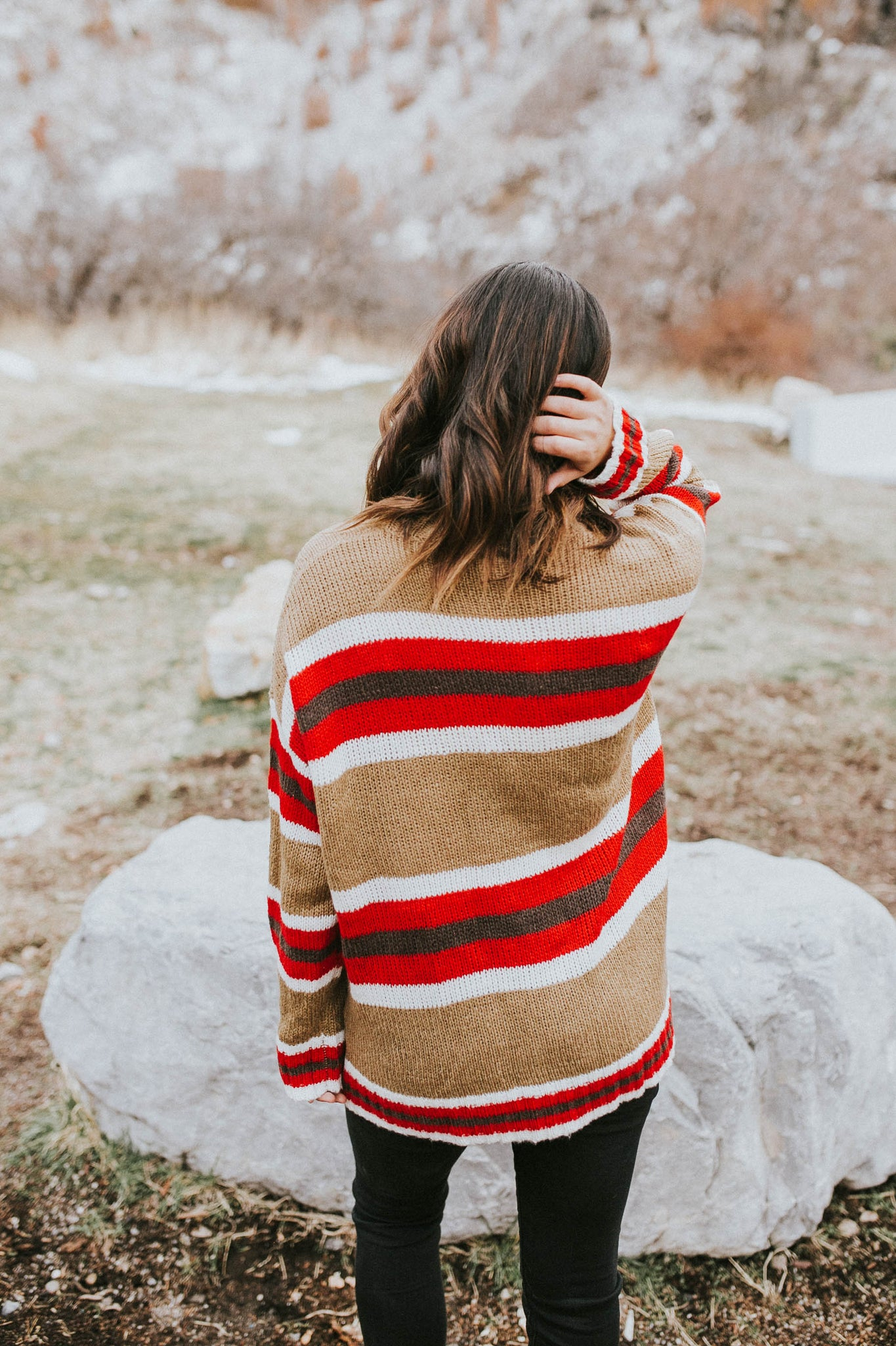 Caitlin Striped Sweater
