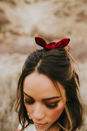 Back in My Day Scrunchie in Deep Red